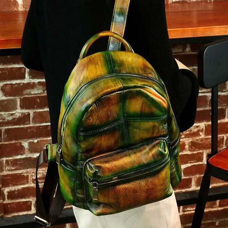 AETOO 2018 brand leather handbag travel backpack Korean fashion leather shoulder bag handbag factory direct sales