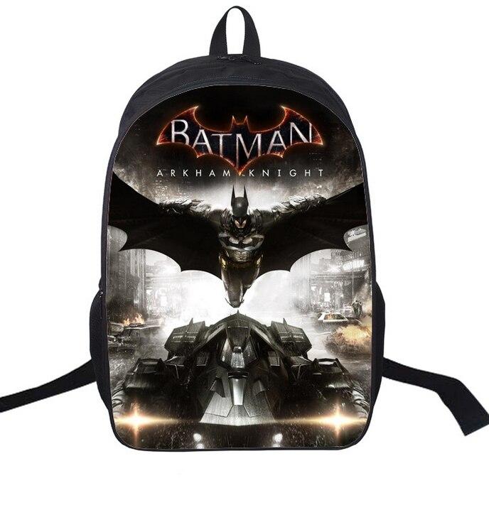 16-zoll Mochila Batman Taschen Für Jungen Batman Rucksack Coole Kinder Schultaschen Für Jugendliche Kinder Rucksäcke
