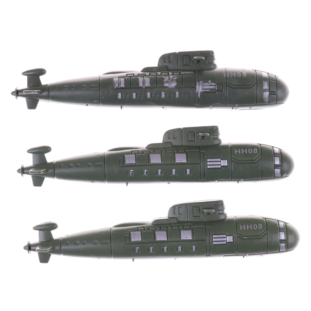 2pcs/lot The Toy Submarine Model, Sand Scene Model Toy Ornaments World War II War Military Submarine