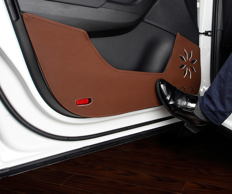 4pc for SKODA KODIAQ Car door Anti kick pad Protective decorative sticker цена и фото