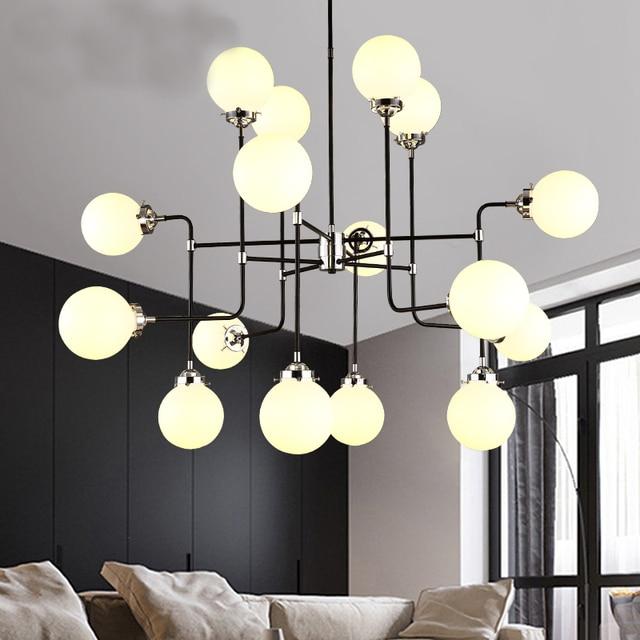 Loft industrie bohnenstange kreative minimalistischen for Wohnzimmer pendelleuchte