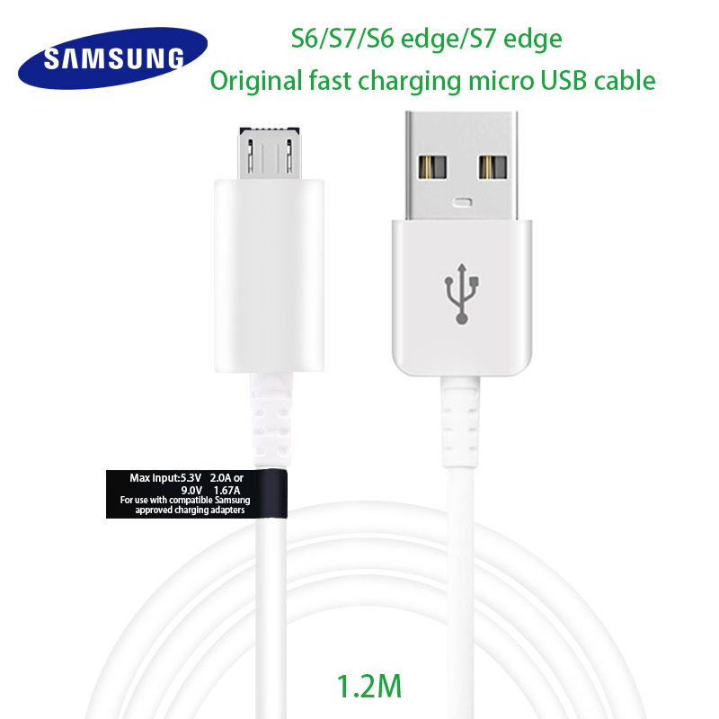 Samsung Galaxy S6 S7 EdgeS 6 7 Original Micro USB Cable Fast