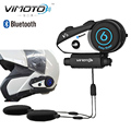 Vimoto Brand V6 Multi-functional Bluetooth for mobile phone and GPS way radios Motorcycle Helmet Bluetooth Headset