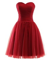 Vintage Tulle Dress Womens Strapless Evening Dress Lolita Ball Gown Mesh Dress Party Dresses