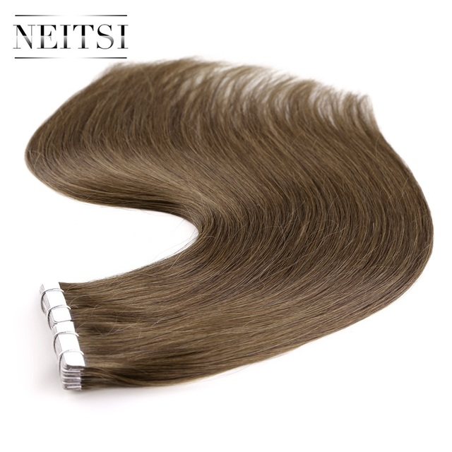 Neitsi Russian Straight Skin Weft Hair Tape In Machine Made Remy
