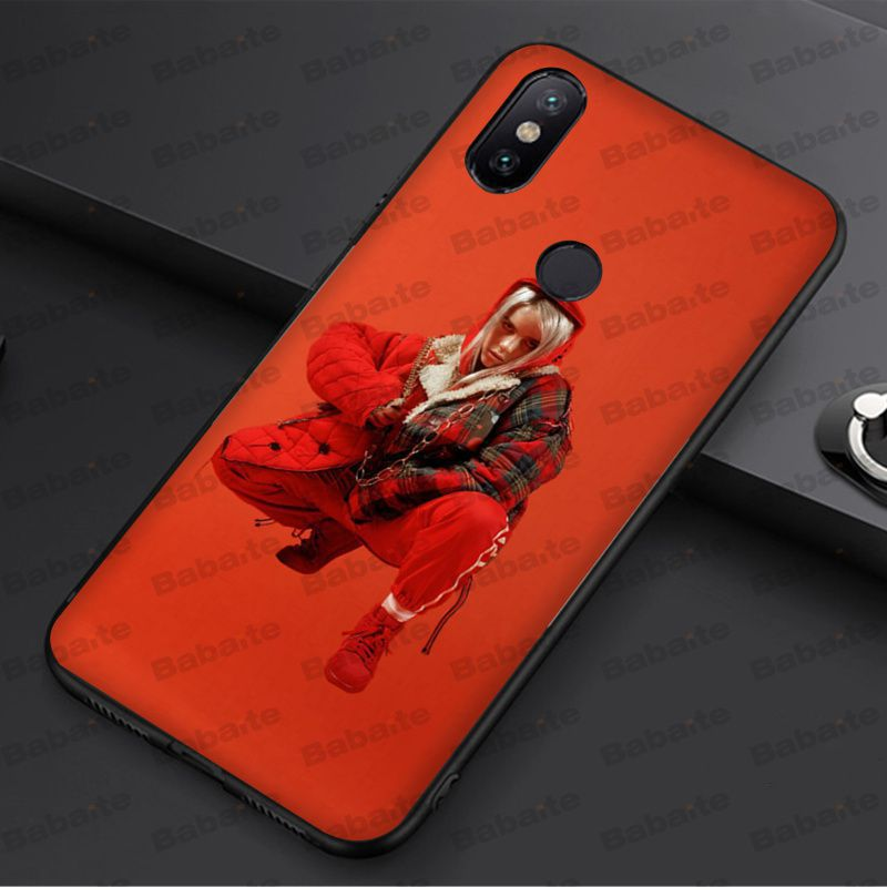 Babaite Billie Eilish Hot Music Singer Star Black Soft Phone Case Cover For redmi 5plus 5A 6pro 4X note5A note4x note6pro cases in Half wrapped Cases from Cellphones Telecommunications