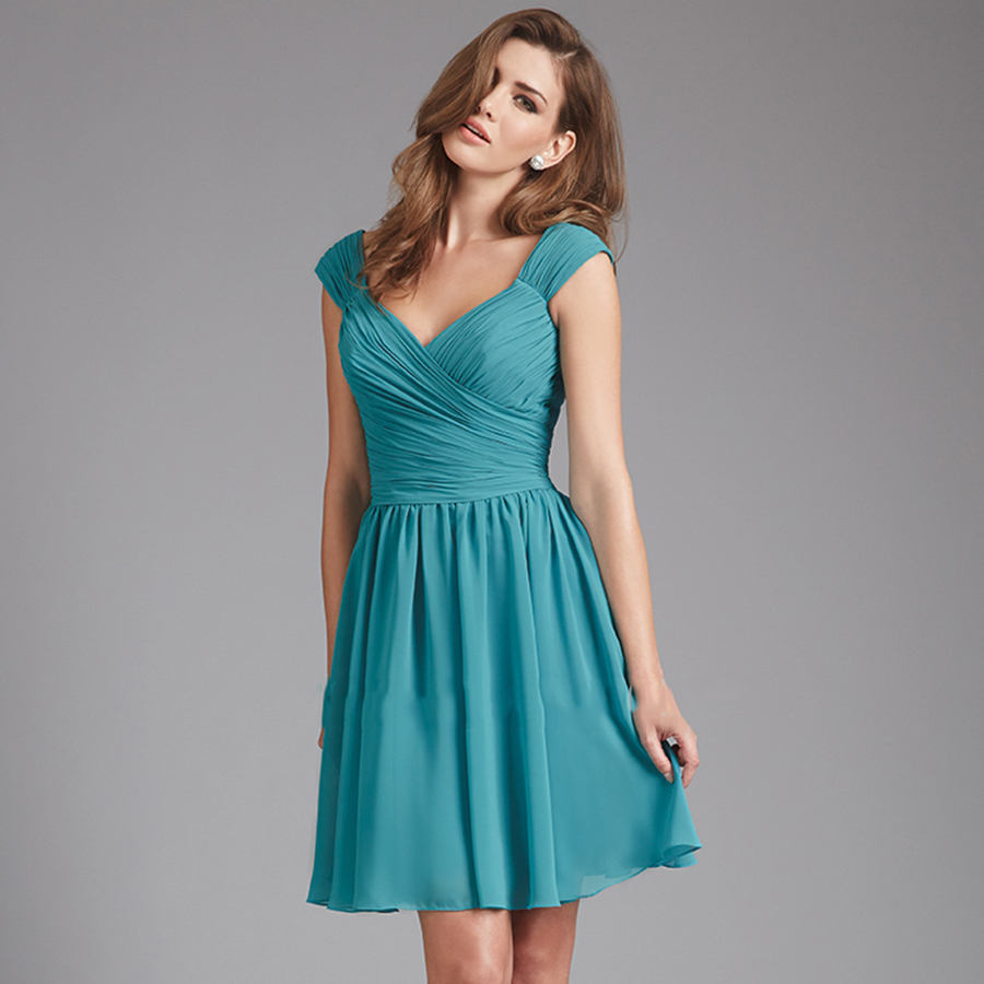 Online Get Cheap Teal Knee Length Dresses -Aliexpress.com ...