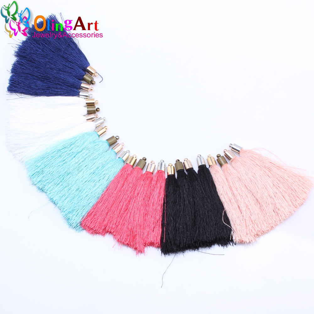 65mm Cotton Thread Tassel  Necklace Earring Pendant Jewelry Making DIY Crafts