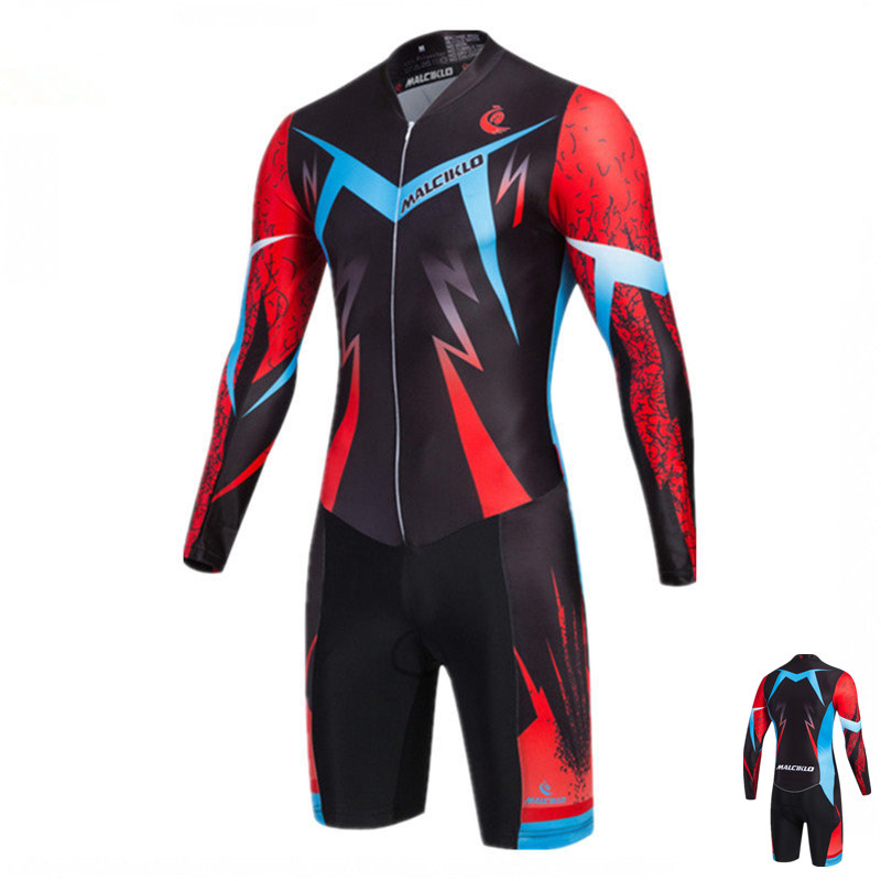 Malciklo Triathlon Suit Men s 2018 High Quality Pro Fabric Cycling Skinsuit Ropa Ciclismo Maillot Cycling