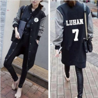 2017 Exo kpop album Shared clothes baseball uniform jacket long sleeve hooded sections student autumn women exo k pop sweatshirt