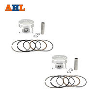 AHL 2 Sets STD 64mm Motorcycle Piston & Piston ring Pin Clips Set Kit For Steed 400 KWO400 BROS400