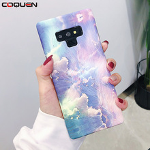 COQUEN Case For Samsung Galaxy S9 S8 Cover Shockproof Marble Flower Luxury Phone Cases Plus Note 8 9 S7 Edge