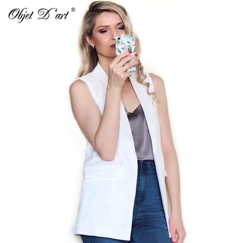 2018 Vasaras sievietes Elegant Vest Fashion Bezpiedurkņu jakas Casual veste femme Long Vest Outwear Brand Waistcoat colete feminino