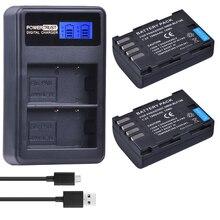 2 Unids 1860 mAh DMW-BLF19E BLF19E Batería de La Cámara DMW BLF19 BLF19 DMW-BLF19 + LCD Dual USB Cargador para Panasonic Lumix GH4 GH3 GH5