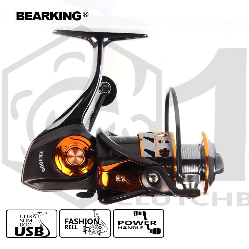 Bearking 2017 Reel Fishing Spinning Reel 5.2: 1 3 + 1BB Leggera di Alluminio Serie Ruota Bobina di Pesca di Trasporto libero