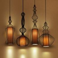 American Country Vintage Iron Cage Pendant Lights Industrial Loft Bar Cafe Shop Dining Room Restaurant Lighting