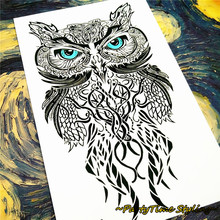 Owl Temporary Tattoo Body Art