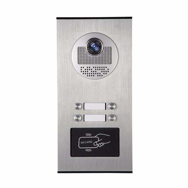 "Yobang Security Villa Apartment Eye Door bell 7""TFT LCD Color Video Door Phone Doorbell Intercom System 1 Camera 4 Monitor"
