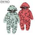 SR053 2017 new arrival Windproof warm baby cotton outerwear coat of newborn boys and girls rompers baby clothes 2 colors