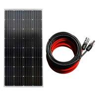150 W монокристаллический Панели солнечные и MC4 коннектор PV кабель для Батарея зарядки солнечной энергии системы Солнечная сотовая Солнечная