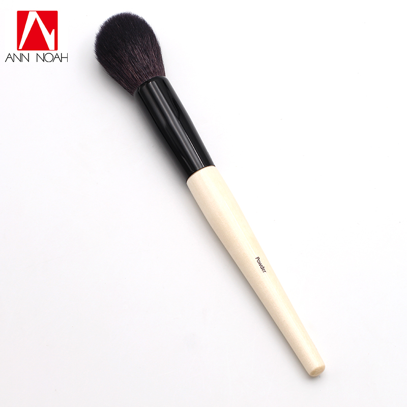 Professional Long Wood Handle Dense Soft Synthetic Hair Tapered Makeup Face Powder Brush