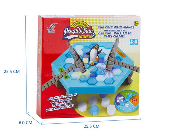 original Interactive Ice Breaking Save Penguin Trap Parents Kids Fun Game Activate Entertainment Toy Penguin Trap