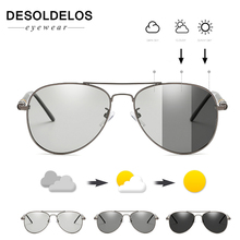 DesolDelos 2019 Photochromic Sunglasses Men Polarized Goggles Male Driving Pilot Sun glasses for men UV400 B304