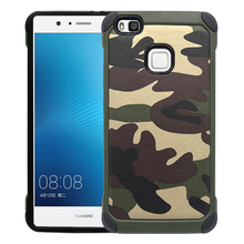 New Army Camo Camouflage Pattern back cover Hard Plastic TPU Armor Anti-knock protective case For Huawei P9 Lite (5.2 inches) stylish protective plastic back case for huawei 3x golden grey