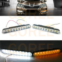 High Quality 2x 30 LED Car Daytime Running Light DRL Daylight Lamp With Turn Lights 100