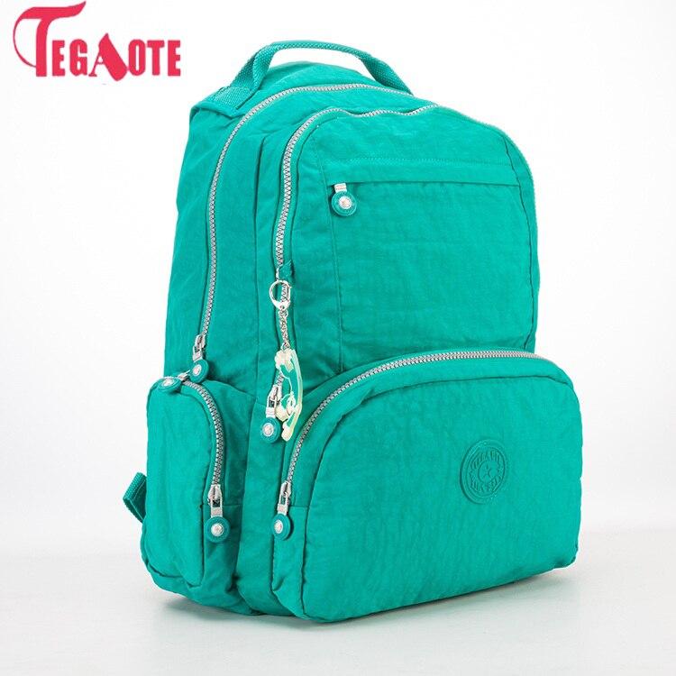 TEGAOTE Backpacks Women Nylon Travel Teenage-Girls Female for Mochila Feminina Escolar