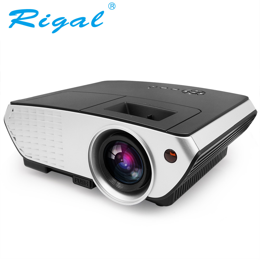 Rigal Projector RD803 Android 4.4 WIFI Airplay Miracast 3D Full HD LED Projector 2000Lumens TV Home Theater LCD Video VGA Beamer tv home theater led projector support full hd 1080p video media player hdmi lcd beamer x7 mini projector 1000 lumens