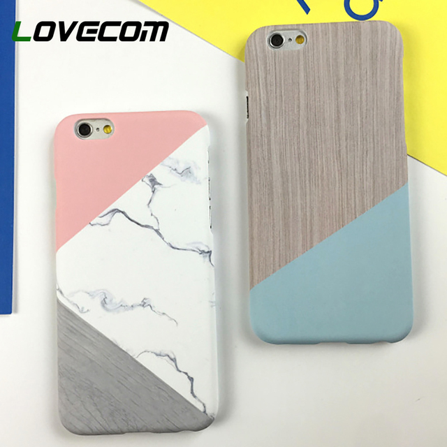 5da4a5c7ad1849 LOVECOM Geometric Splice Pattern Marble Hard PC Marble Phone Cases For  iPhone XS Max XR 5 5S SE 6 6S 7 8 Plus X Case Back Cover