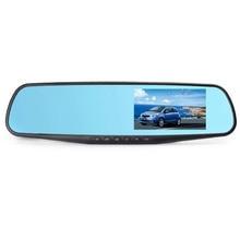 Новые 4.3 дюймов Full HD 1080 P Автомобильное Зеркало Заднего Вида DVR Автомобиля Парковочная камера Ночного Видения Автомобильный Видеорегистратор Видеокамера Свободный Корабль