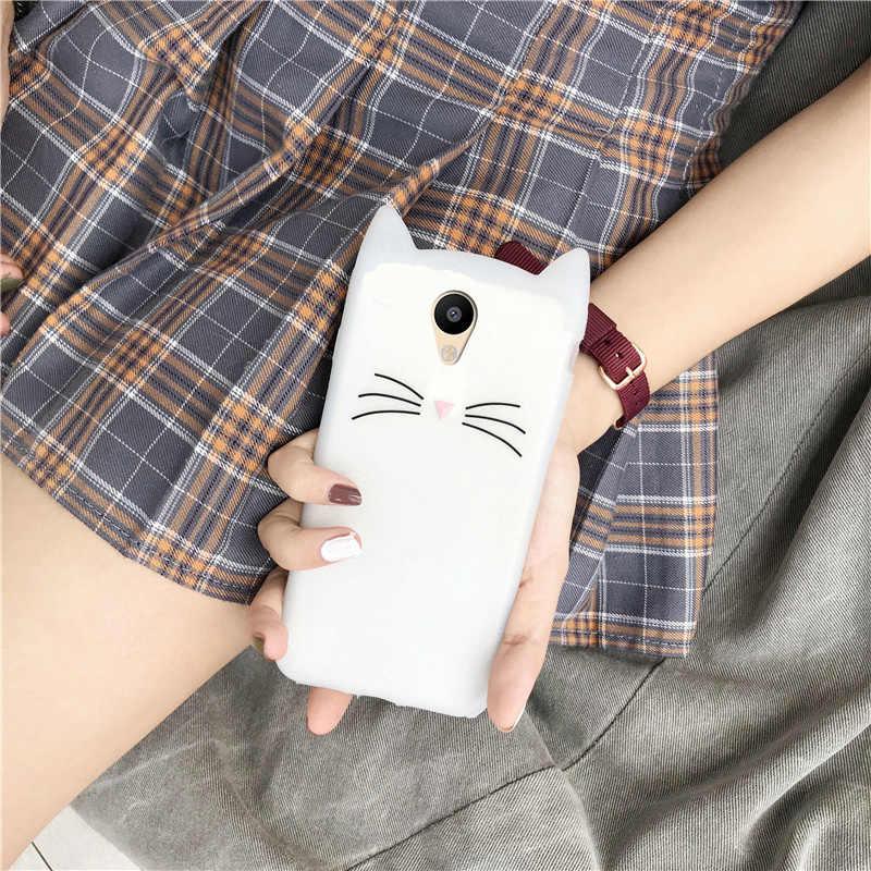 Силиконовый чехол для телефона Meizu M6 M5S M5 M6S M3S M5C с милыми кошачьими ушками Мультяшные Чехлы для Meizu M6 M5 Note Чехлы Защитные бампер