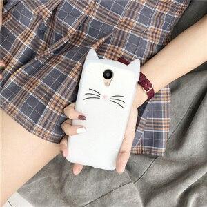 Image 4 - Silicon Telefoon Case Voor Meizu M6 M5S M5 M6S M3S M5C Leuke Kat Oor Cartoon Gevallen Voor Meizu M6 M5 note Gevallen Beschermhoes Bumper