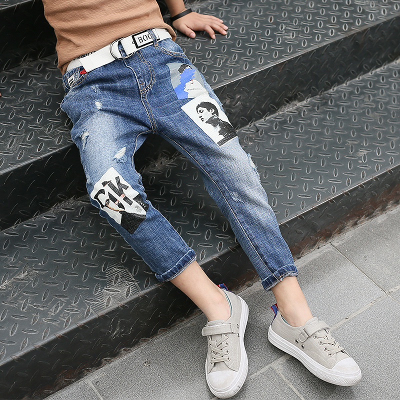 boys jeans 2018 auutmn kids clothes 12 years old fashion