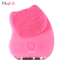 hot deal buy blingbelle sonic face brush high frequency 5v cosmetology for face skin care tools electric silicone facial cleansing brush