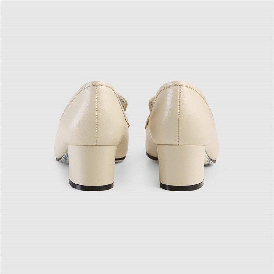 Apricot Métal Décoration Cuir Mode En Automne Pompes Perfetto Chaussure De Nouvelle Véritable Diamant Carré Peu Couleur Profonde Prova 2018 Robe Bout Femmes Mixte wZqOYBC
