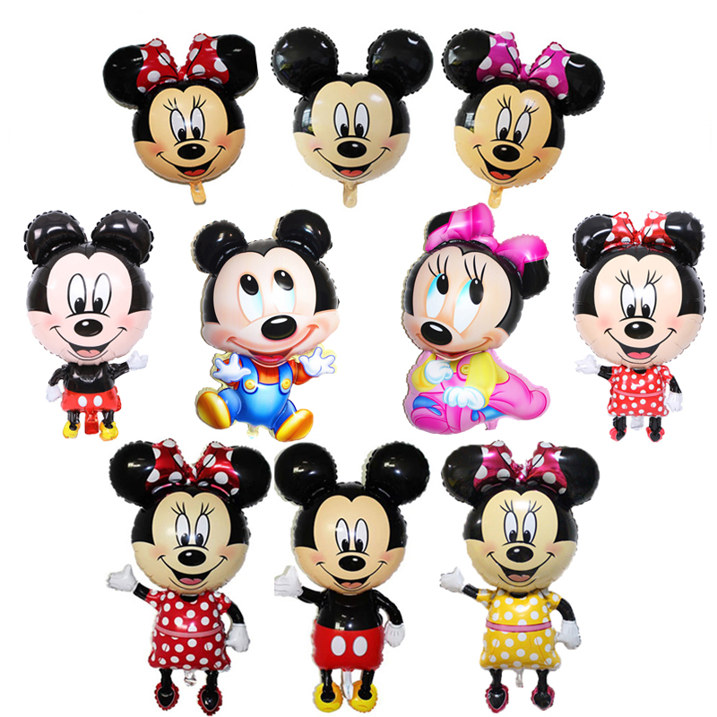 1 Pcs Grandes Tamanhos Mickey Minnie Mouse Foil Baloes Dos