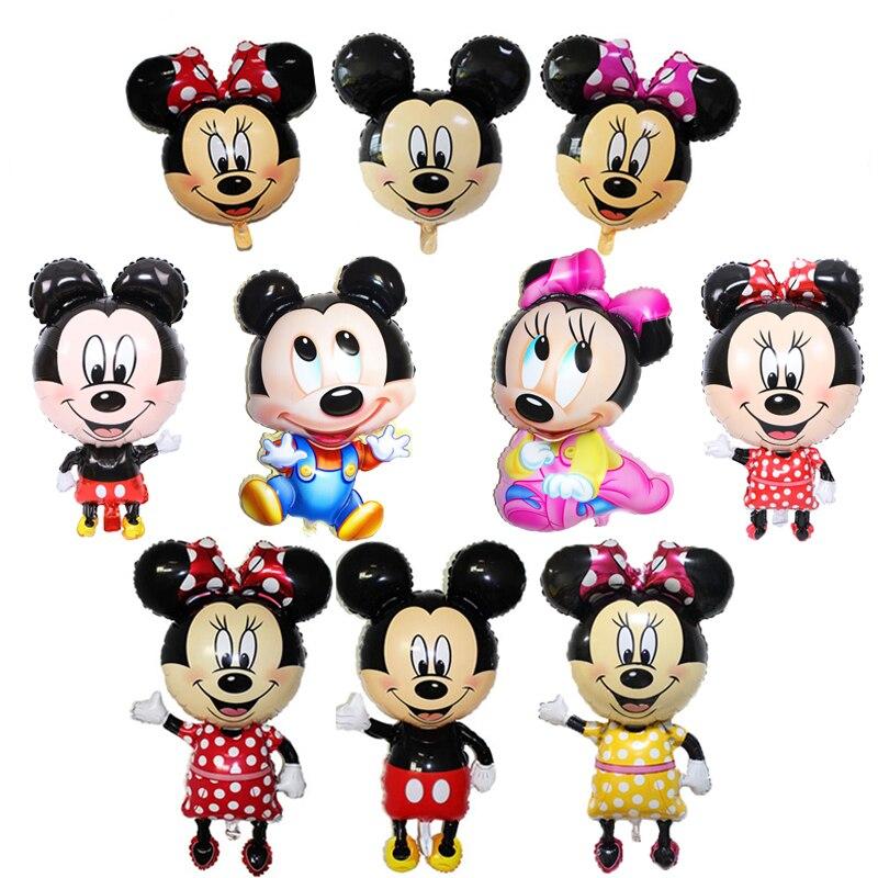 1 stücke große größen Mickey Minnie Maus folie Ballons Cartoon Geburtstag Party dekorationen Kinder Baby shower Party ballon Spielzeug ball