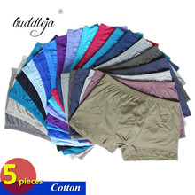5 Pieces/lot Underwear Men Boxer 100% Cotton mens boxers male Panties Underpants Comfortable Shorts Short Cuecas Underwears