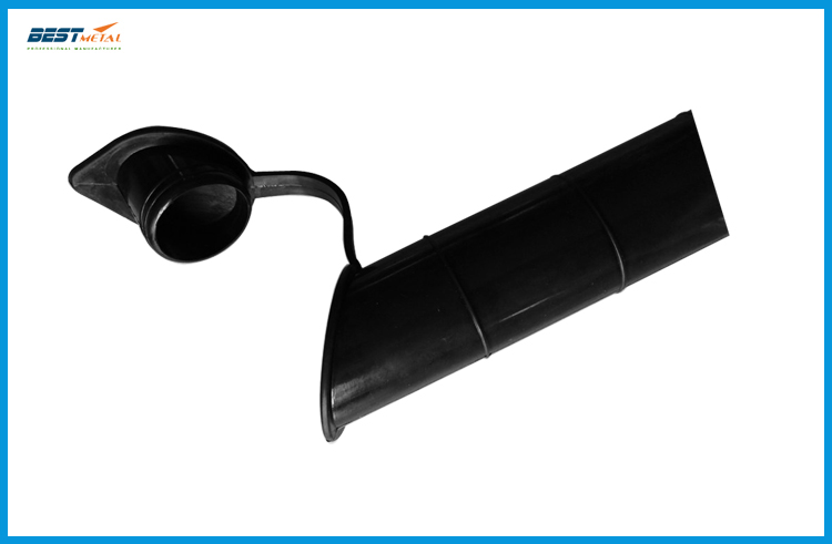 Black color 30 degree Fishing Rod holder Inner Sleeve Rod Pod Rubber Cap Tube Liner