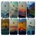 Caso capa para iphone 5 5s se 5g 6 6 s 6 mais 5.5 'Cenário Bonito Padrões de Sacos de Telefone Tampa Traseira Tpu Macio Silicone Transparente
