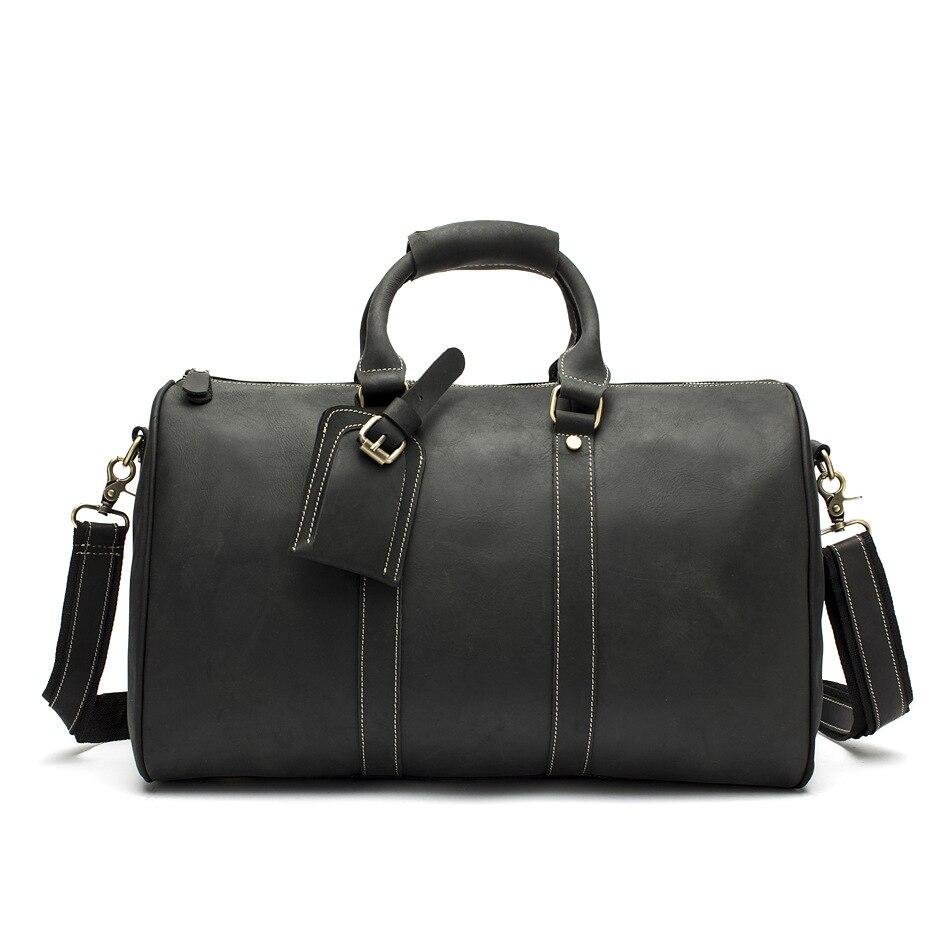 Man first layer of leather handbag leather Crossbody Bag Boy Crazy Horse leather shoulder bag large capacity travel bag