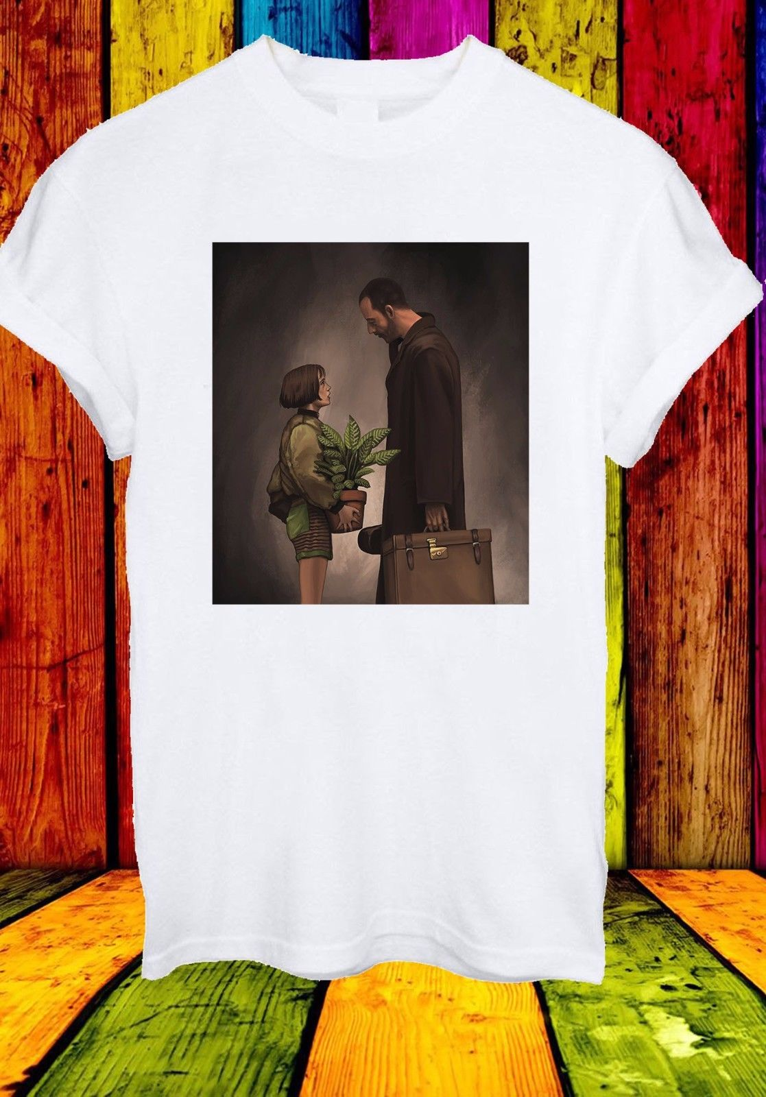Leon Matilda The Professional Jean Reno Movie Film Men Women Unisex T-shirt 756 New T Shirts Funny Tops Tee New Unisex Funny