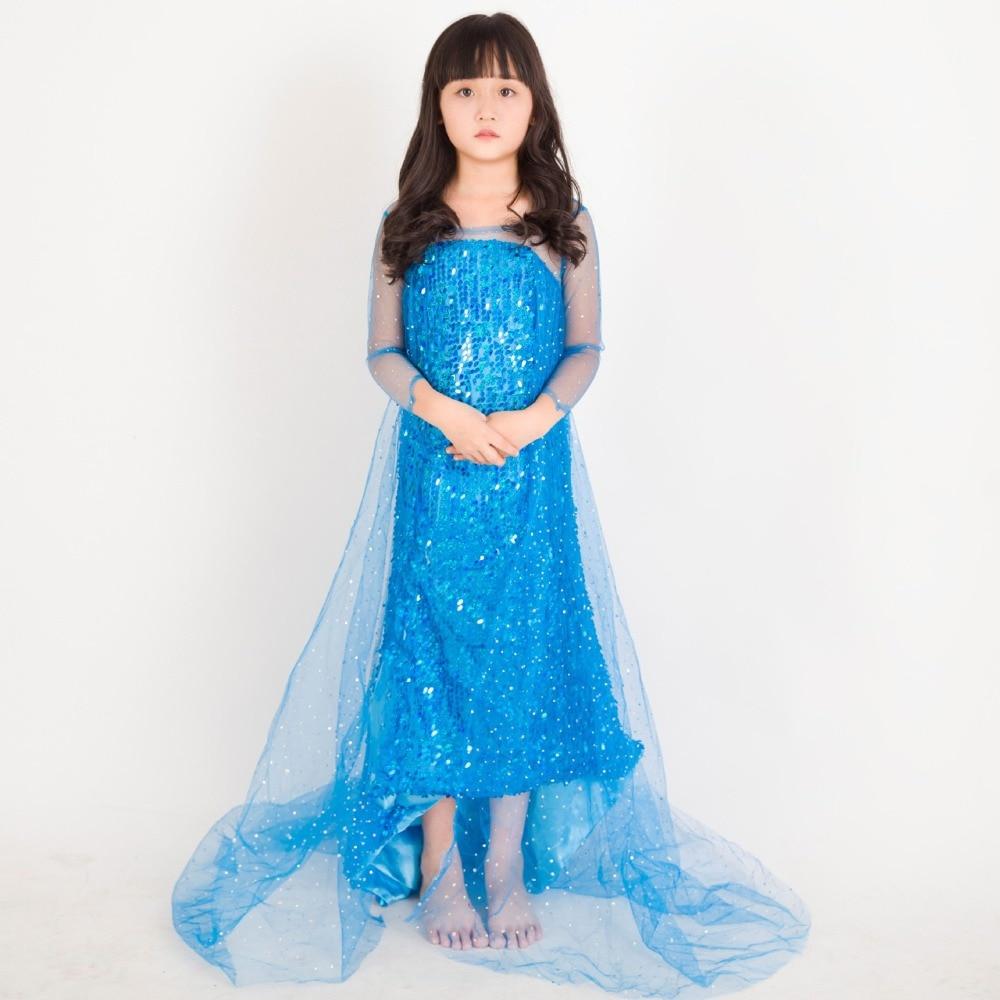European and American girls ice romance Aisha Princess long sleeves Fantasy Comic Movie Carnival Party Purim Halloween