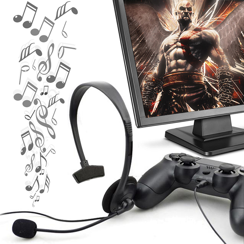 Newest Handsfree Over-ear Wired Game Earphone Headphones Gaming Headset with Boom Microphone VOL For PC Video Play station PS4