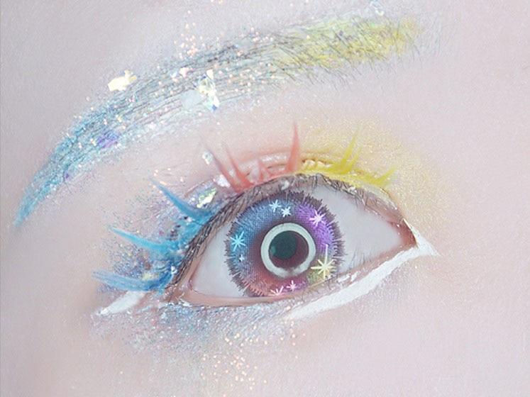Houseki No Kuni Antarcticite Fancy Shining Eyelash Silver Cosplay Handemade