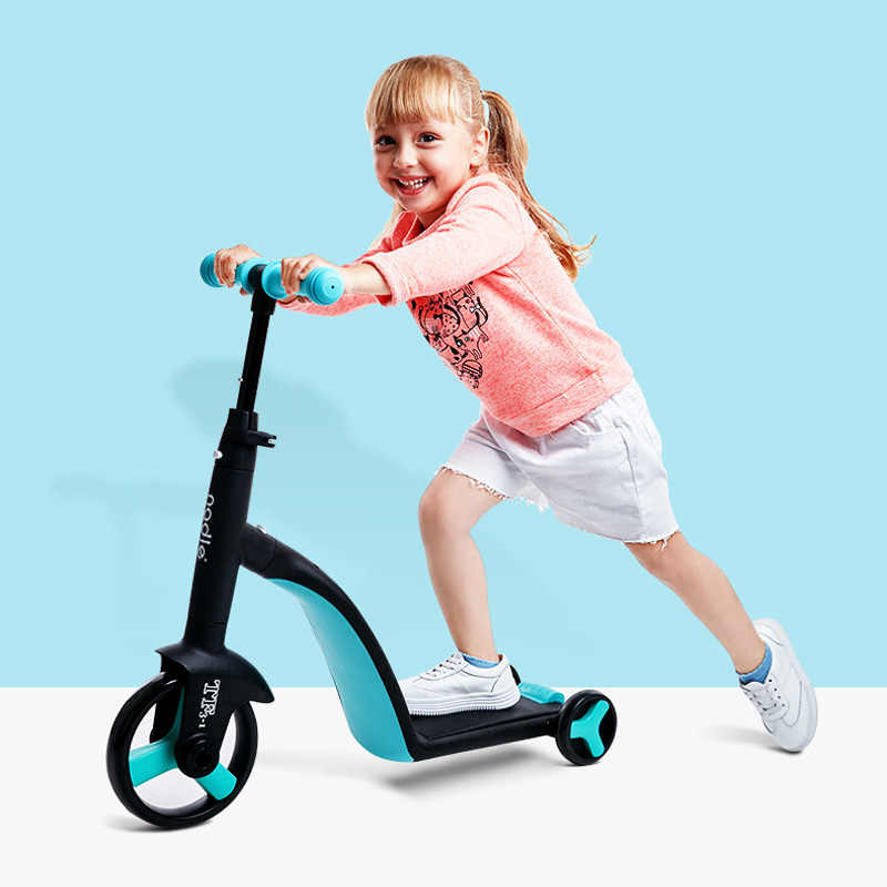 三輪車の子供の kick スクータースクーター三輪車自転車おもちゃの車折りたたみ旅行、 3 歳以上の子供