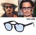 2016 Nueva Moda Johnny Depp Estilo Ronda Océano Tinte Lente gafas de Sol Diseño de marca Del Partido Espectáculo Gafas de Sol Gafas de Sol Gafas 1932